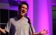 Sam Kasmin '21 performs at this year's Coffee House show in January.
