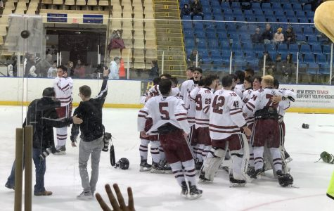 The team rejoices after winning the Mennen Cup.