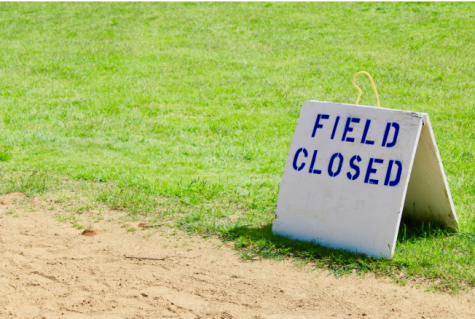 A closed field during the pandemic.