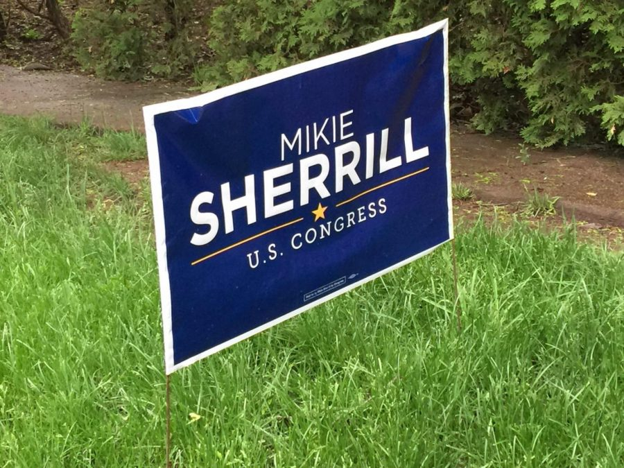 Campaign sign for Mikie Sherrill.